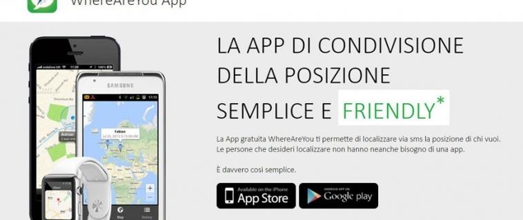 Stiamo al sicuro grazie all'app Where Are You